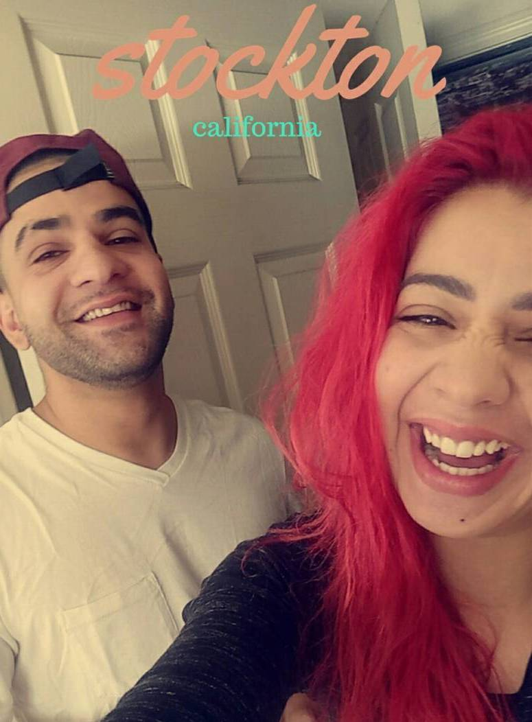 Jasmine Sandlas with her brother