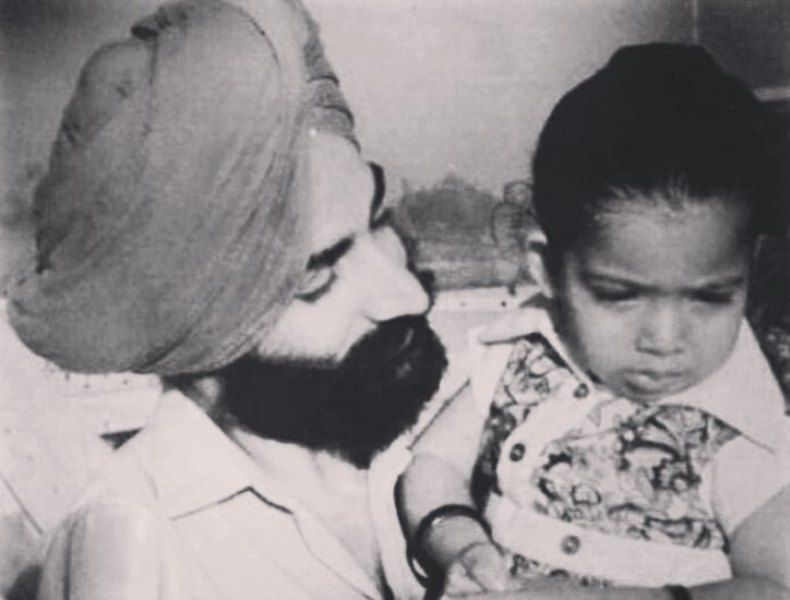 Jasmine Sandlas with her father
