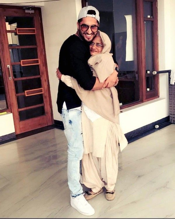 Jassie Gill with his grandmother