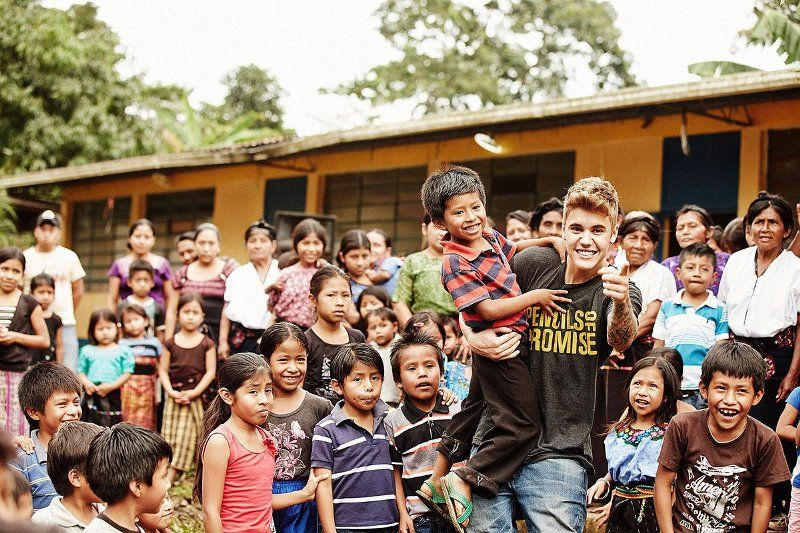 Justin Bieber And Pencils of Promise