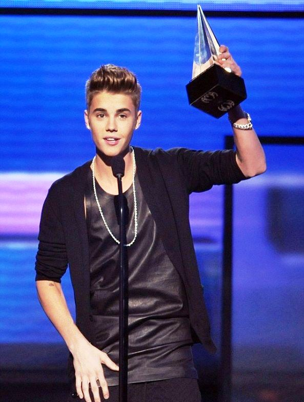 Justin Bieber With His AMA