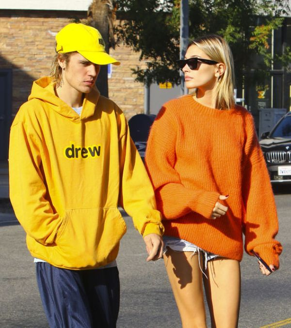 Justin Bieber With His Wife, Hailey Wearing 'Drew House' Clothes
