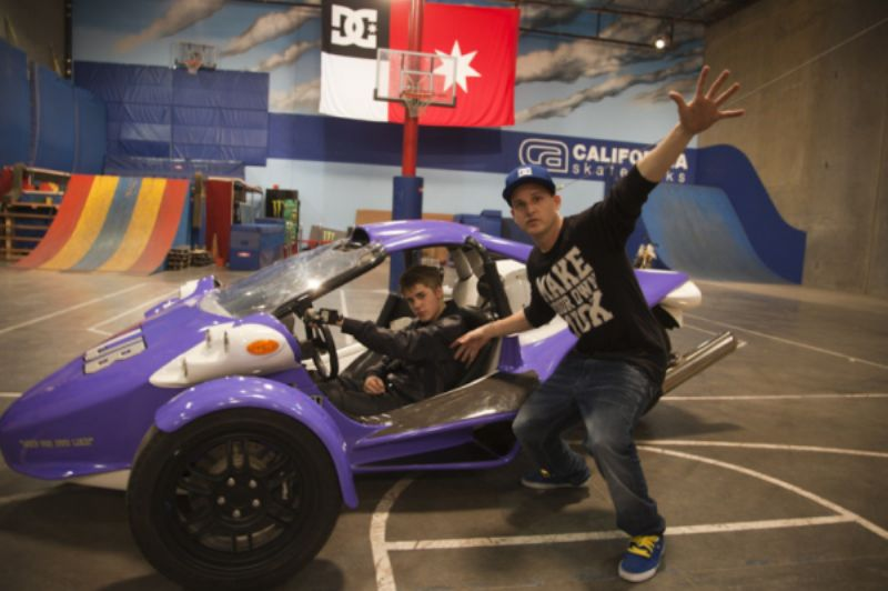 Justin In His Customized T-Rex