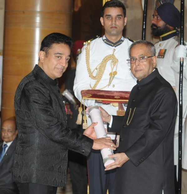 Kamal Haasan Receiving Padma Bhushan