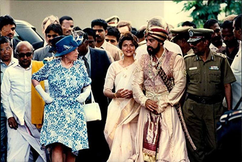 Kamal Haasan With Queen Elizabeth 2 At The Inauguration Ceremony Of Marudhanayagam