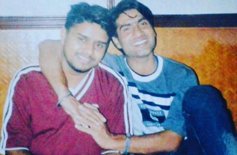 Karamjit Anmol in his college days with Preet Harpal