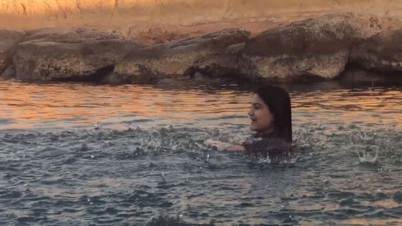 Kaur B swimming