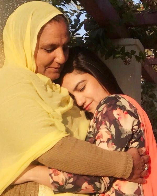 Kaur B with her mother