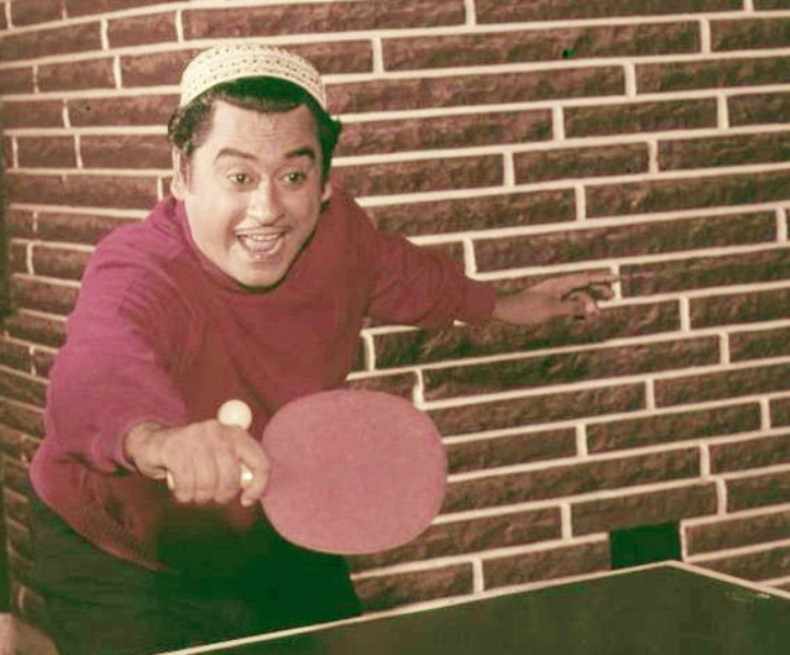 Kishore Kumar Playing Table Tennis