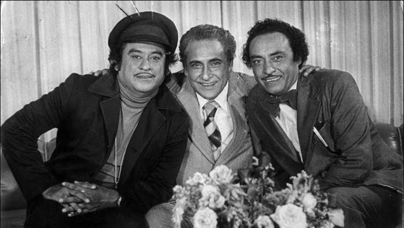 Kishore Kumar With His Brother Ashok Kumar And Anoop Kumar