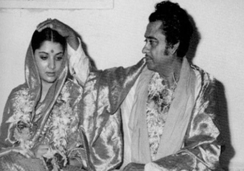 Kishore Kumar With Hiw Third Wife, Yogeeta Bali