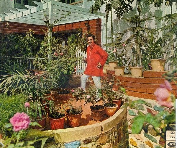 Kishore Kumar in the Backyard of His House