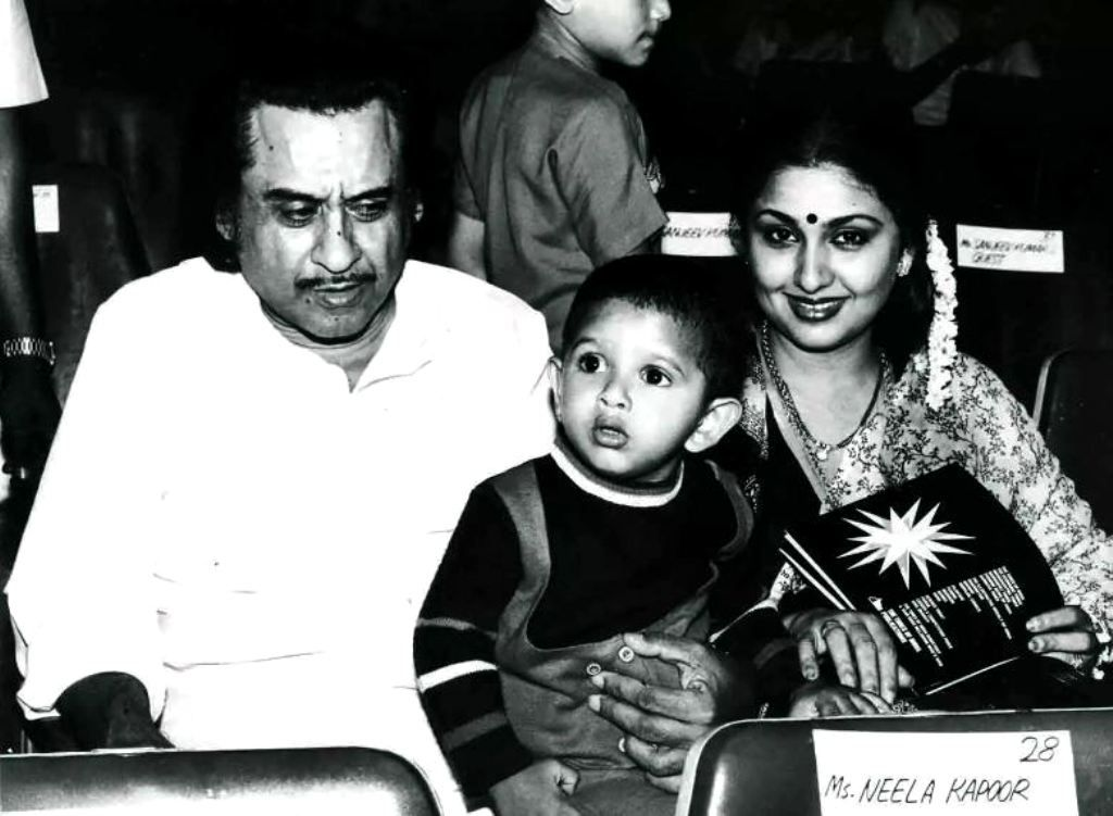 Leena Chandavarkar With Kishore Kumar And Their Son Sumeet