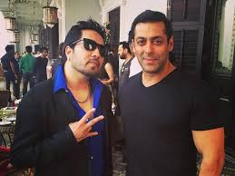 Mika Singh with Salman Khan