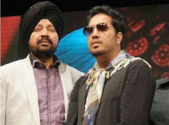 Mika Singh with his brother Shamsher singh