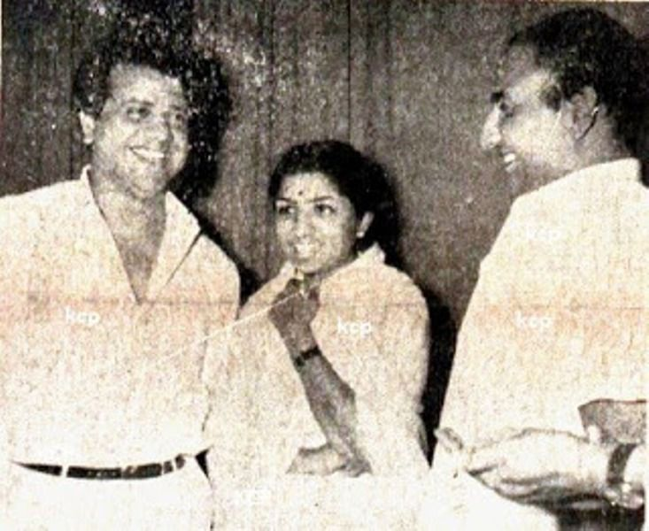 Mohammed Rafi With Lata Mangeshkar And Jaikishan