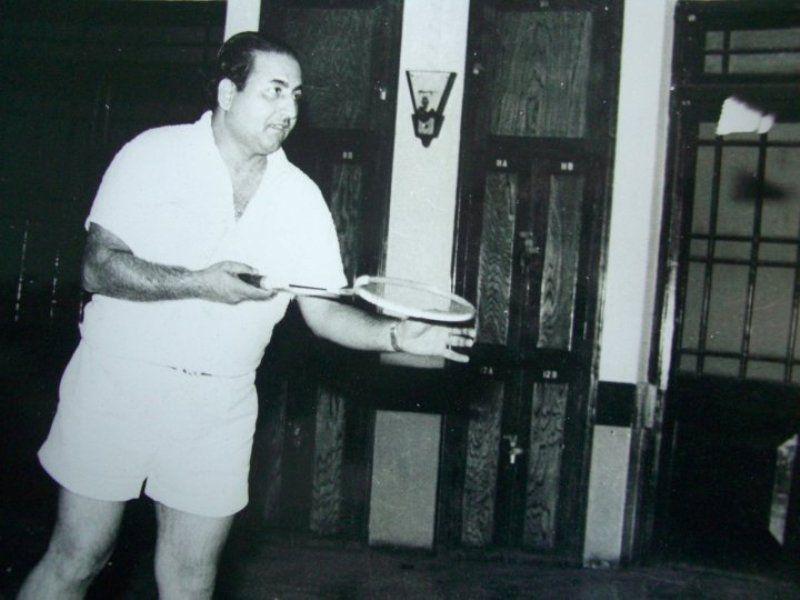 Mohammed Rafi playing badminton