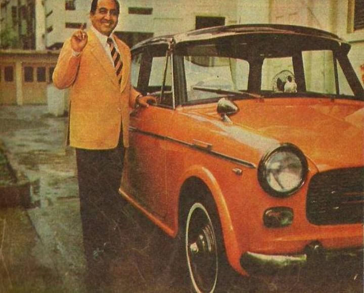 Mohammed Rafi with his car