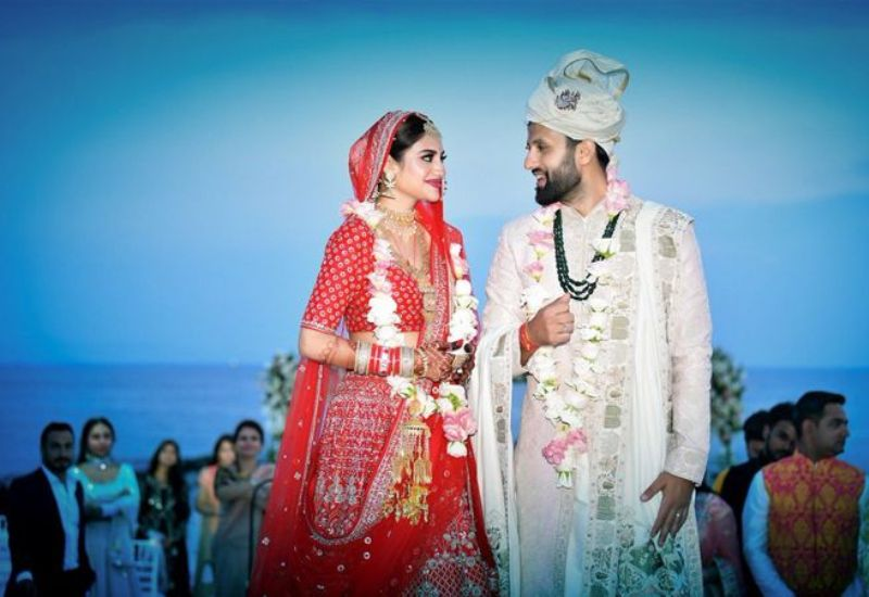 Nusrat Jahan With Her Husband Nikhil Jain On Their Wedding