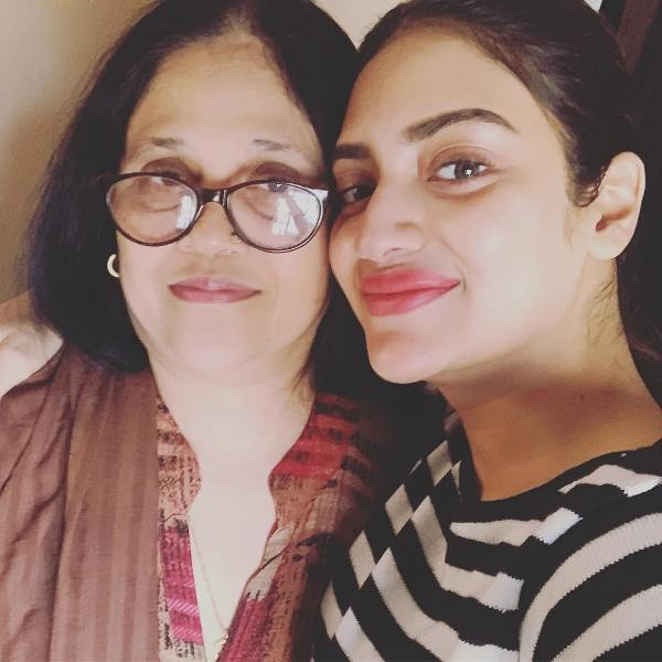 Nusrat Jahan With Her Mother