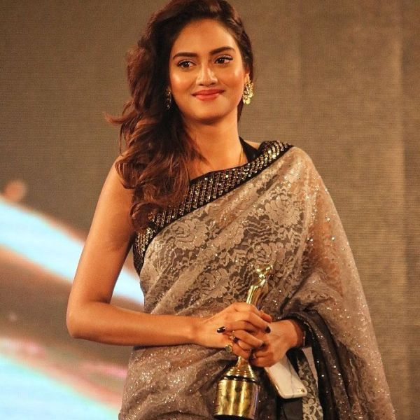 Nusrat Jahan With Her Tele Cine Award