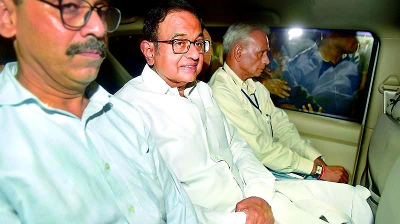P Chidambaram after being arrested by the CBI