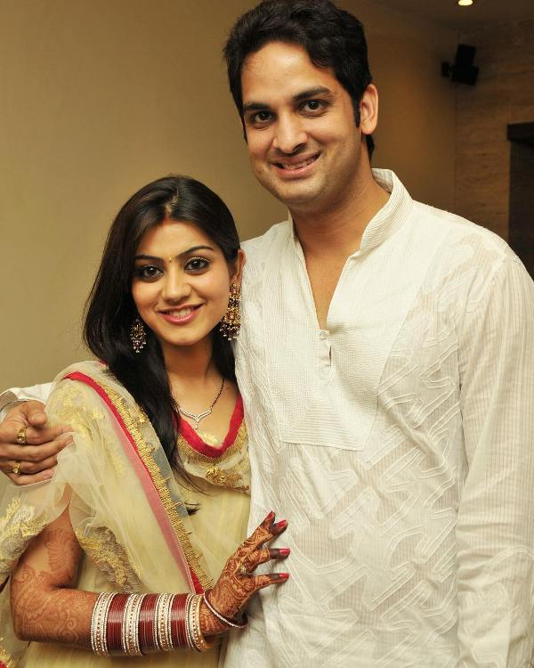 Priyanka Chibber with her husband