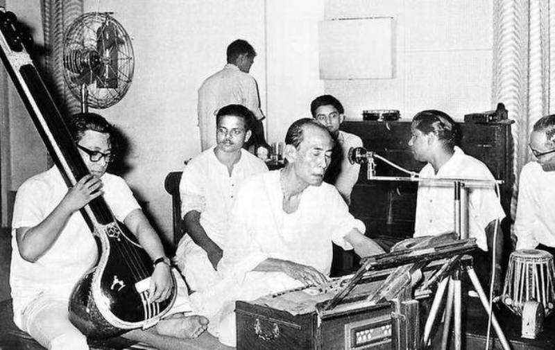 R. D. Burman Playing Sarod