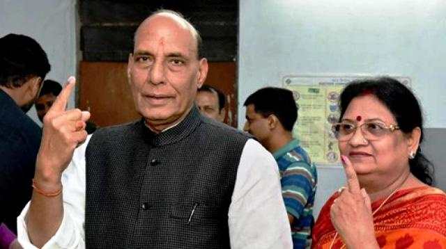 Rajnath Singh With His Wife Savitri Singh