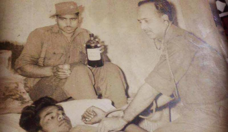 Richa Chadda's Maternal Grandfather, Lt Colonel Dharamveer Prasad Treating A Patient