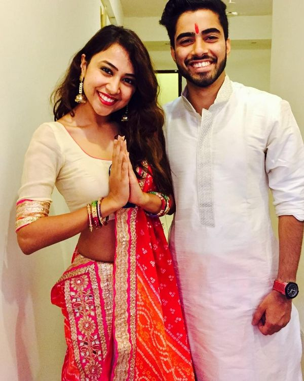 Ridhima Pathak with her brother