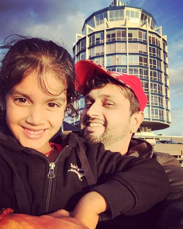 Roshan Prince with his daughter
