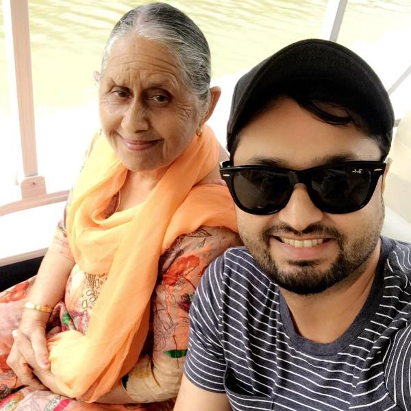 Roshan Prince with his mother