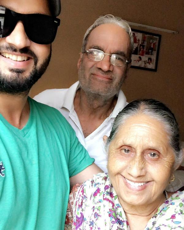 Roshan Prince with his parents