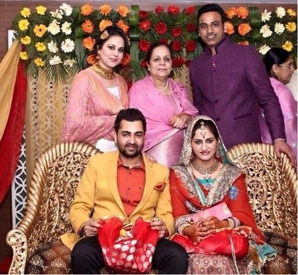 Sharry Mann's wedding picture