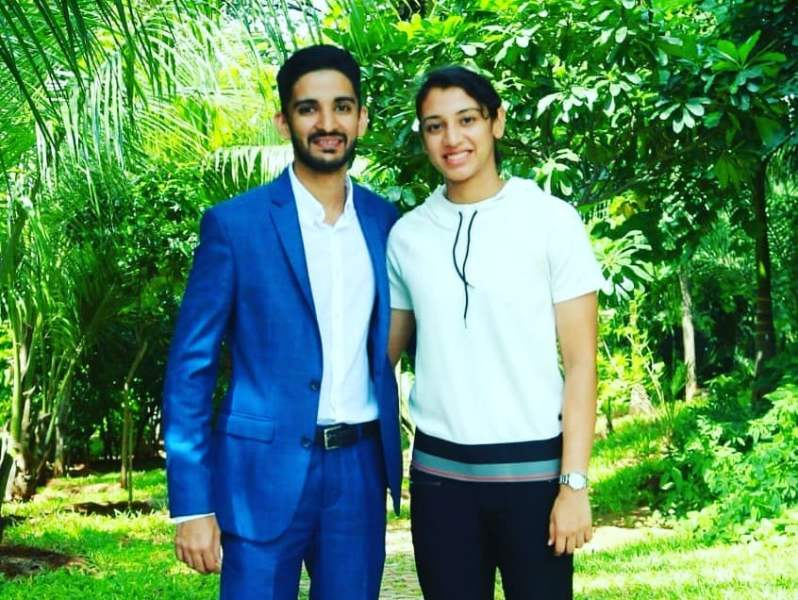 Smriti Mandhana With Her Brother