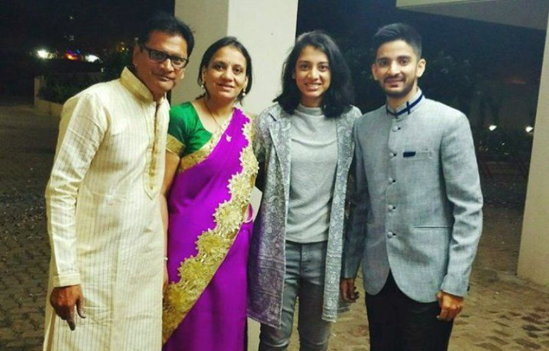Smriti Mandhana With Her Family