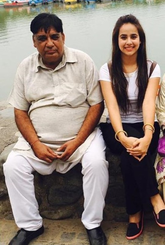 Sunanda Sharma with her father