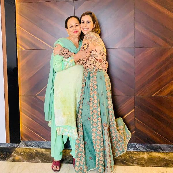 Sunanda Sharma with her mother