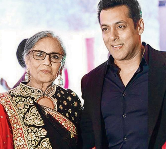 Sushila Charak With Salman Khan