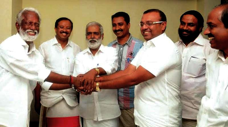 Thushar Vellappally Meeting Leaders Of Various Hindu Outfits