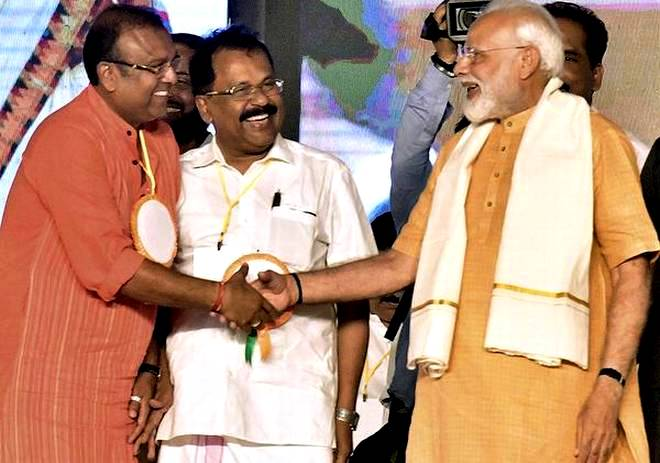 Thushar Vellappally With Narendra Modi