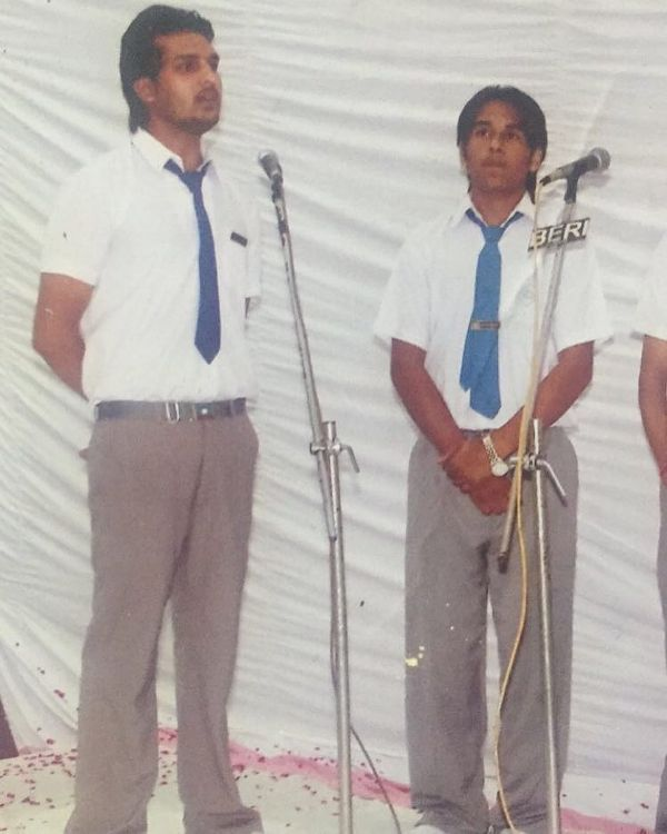 Yuvraj Hans in his school days
