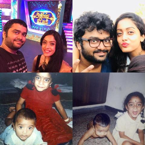 Abhirami Venkatachalam with her brother