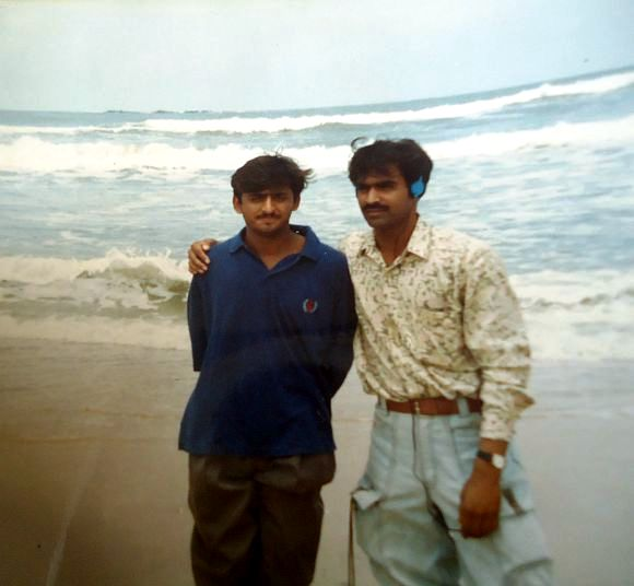 Akhilesh Yadav During His College Days With A Friend