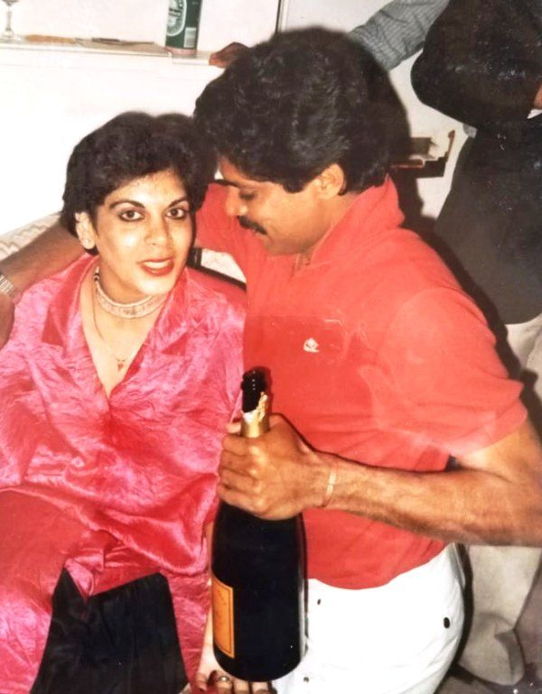 An Old Picture of Romi Bhatia with Kapil Dev