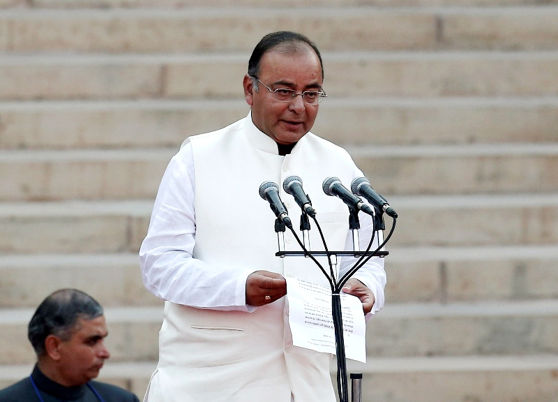 Arun Jaitley taking oath as a Cabinet Minister in 2014