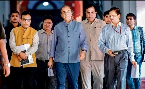Arun Jaitley with the GST Council