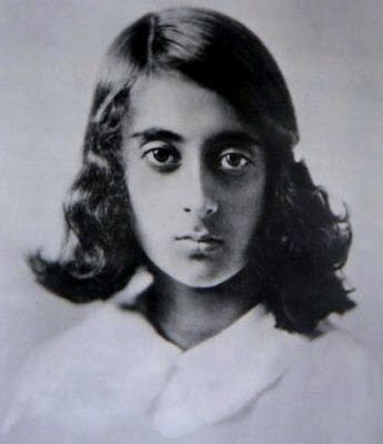 Childhood photo of Indira Gandhi