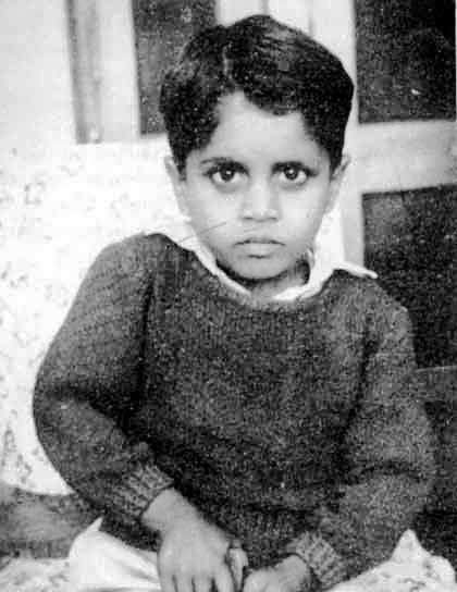 Childhood photo of Kapil Dev